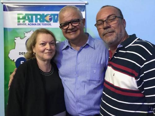 Adna Louzada, Presidente Estadual Patriota 51 RJ, Deputado Federal Walney Rocha e o Presidente Municipal Patriota 51 Mesquita, Cleber Louzada.